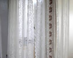 Shabby Chic Balloon Curtains by Sale Shabby Chic Ivory Balloon Curtain Pull Up Panel Fixed