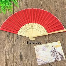personalized folding fans for weddings 80pcs lot free shipping wedding favors personalized silk fan