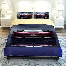 King Size Duvet Cover Set Luxury Race Car Print Men Bedding Sets Duvet Cover Bedsheets Twin
