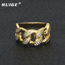 aliexpress buy new arrival men jewelry gold silver aliexpress buy cuban ring micro pave cubic zircon hip hop