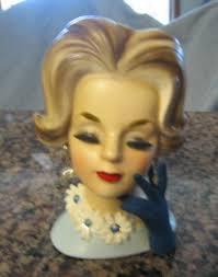 Vintage Lady Head Vases Napcoware Head Vase Vintage Enesco Inarco Napcoware Relpo At