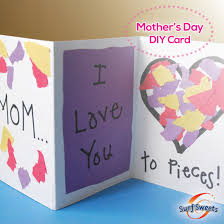 Cute Homemade Mothers Day Gifts by Cute And Simple Mother U0027s Day Card A Great Activity For The Little