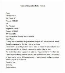 teacher resignation letter sample resignation letter example 8