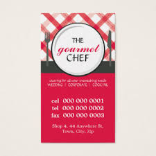 Catering Calling Card Design Red Calling Business Cards U0026 Templates Zazzle