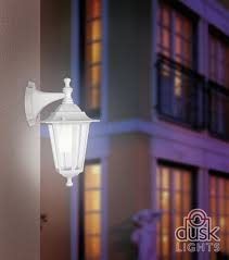 eglo laterna 5 white ip44 exterior cast aluminium wall light
