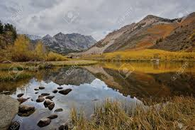 north lake eastern sierra fall color stock photo