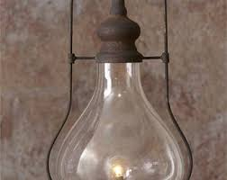 Hurricane Lamp Chandelier Industrial Lantern Etsy