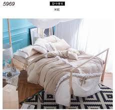 Princess Duvet Cover Aliexpress Com Buy Water Washed Cotton Beige Camel Gree Blue