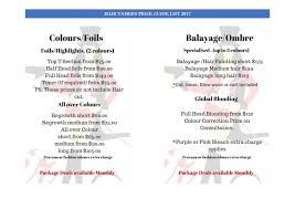hairstyle price list services hair tamers on roberts rd