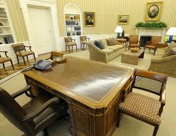 Oval Office White House The Oval Office Of Obama Seen From Behind His Desk Has New