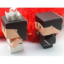 unique boxes unique design wedding candy box suit dress robot shaped wedding