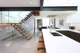 exterior design white countertop in fantastic open plan interior
