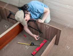 Assembling A Bed Frame Self Assembling Furniture At Home Putting