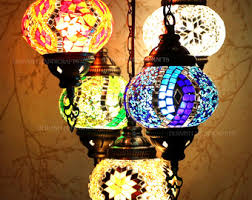 Hanging Light Decorations Bohemian Decor Etsy