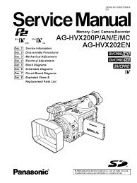 panasonic ag hvx200p an e mc 2c ag hvx202en parts 2c service manual