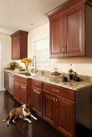 cherry shaker cabinets kitchen remodeling photos