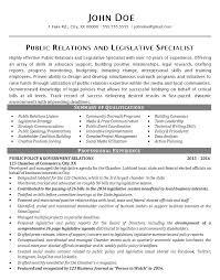 international relations specialist resume public relations resume example political legislative specialist
