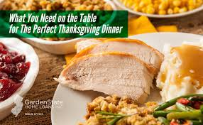 what you need on the table for the thanksgiving dinner