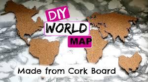 Cork World Map by Diy World Map Made From Cork Board Simplieleslie Youtube