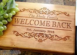 cutting board wedding gift housewarming personalized engraved cutting board wedding gift
