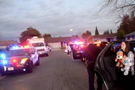 citrus heights police convoy delivers christmas gifts to kids