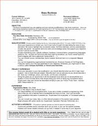 Job Resume Template With No Experience by Free Example And Work Writing Download Resume Examples Of Resumes