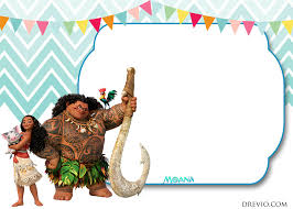 free printable little moana birthday and baby shower invitation