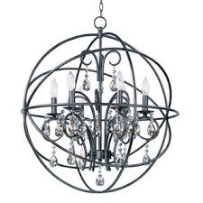 Chandelier Removal Foucault U0027s Orb Crystal Iron 6 Light Chandelier Free Shipping