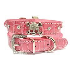 pu leather collar rhinestone puppy buckle puppy pet collars