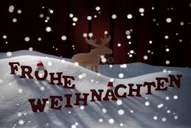 frohe weihnachten means merry moose stock photo image of
