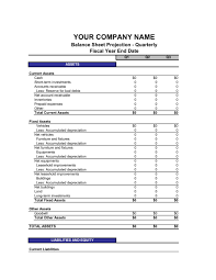 Template For A Balance Sheet by Balance Sheet Quarterly Template Sle Form Biztree Com