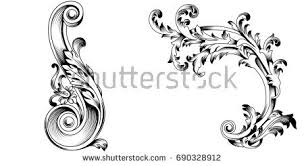 acanthus ornament vectors free vector stock
