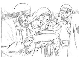 the birth of john the baptist foretold coloring pages