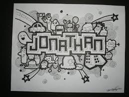 doodle name arts doodle jonathan by sarahrejinah on deviantart