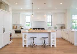 Butcher Block Top Kitchen Island Appealing White Kitchen Island With Shelves And Butcher Block Top