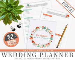 ultimate wedding planner ultimate wedding planner organizer kit instant