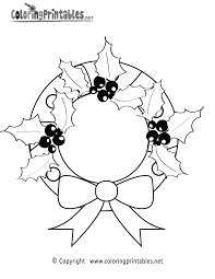 christmas wreaths coloring pages christmas decorations coloring