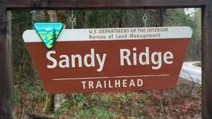 Interior Signs Trail Sandy Ridge Trail Project Northwest Trail Alliance