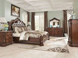 Ashley Furniture B LedelleQueen King Sleigh Bed Frame Bedroom - Ashley furniture bedroom set marble top
