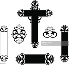 decorative scroll cross panels vector getty images
