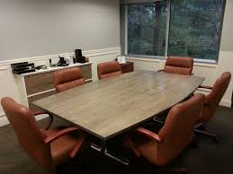 Grey Meeting Table Minimalis Cool Conference Room Tables Laminate Wood Table Top