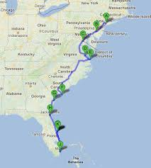 road trip map of usa road trip along the east coast of usa road trippin east coast