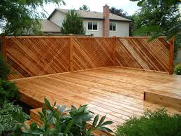 image detail for western red cedar deck with privacy lattice
