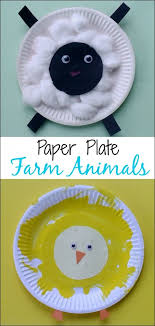 Paper Plate Monkey Craft - crafts for toddlers paper plate baby farm animals mess for less