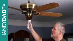 installing remote control ceiling fan how to install a ceiling fan remote control youtube