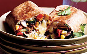 cooking light diet recipes vegetable and rice burritos with quesadilla cheese from the cooking