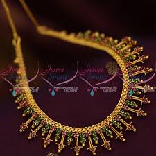 fashion jewelry necklace sets images Nl8659 ruby emerald fancy handmade gold design imitation jewellery JPG