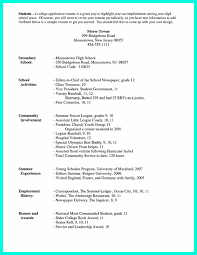 Employment History Example High Resume For College Application Sample Resume For