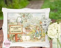 mr mcgregor s garden rabbit welcome to mr mcgregor s garden no rabbits sign birthday