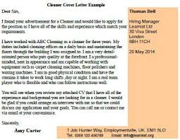cleaner cover letter example forums learnist org